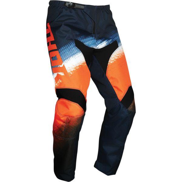 Pantaloni MX-Enduro Thor Pantaloni MX Sector Vapor Albastru/Portocaliu 2020