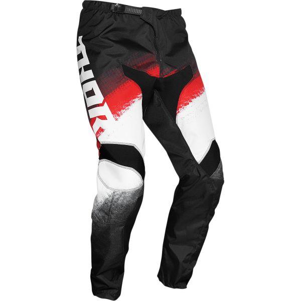 Pantaloni MX-Enduro Thor Pantaloni MX Sector Vapor Negru/Rosu 2020