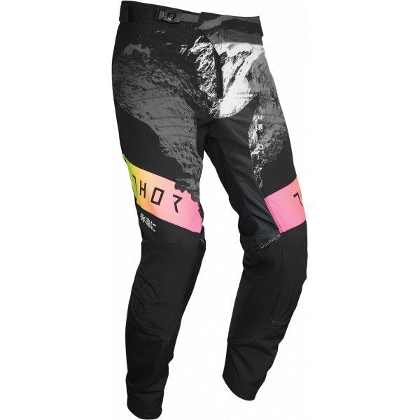 Pantaloni MX-Enduro Thor Pantaloni Prime Pro Mesmer Multicolor Negru 2020