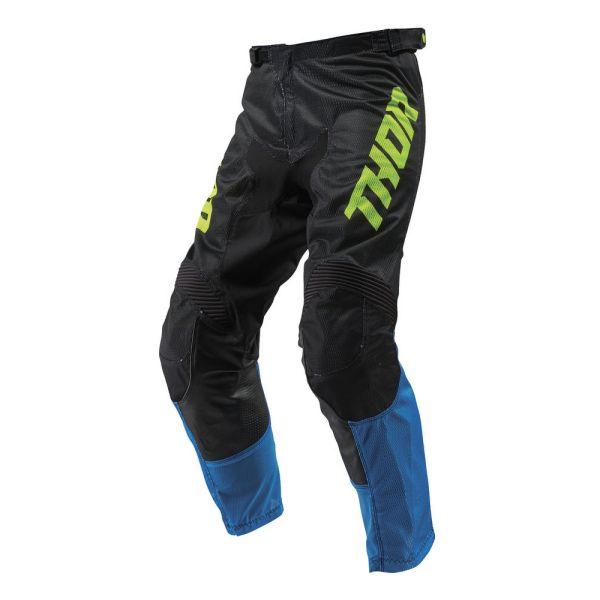 Pantaloni MX-Enduro Thor Pantaloni Pulse Air Acid Blue/Black S9