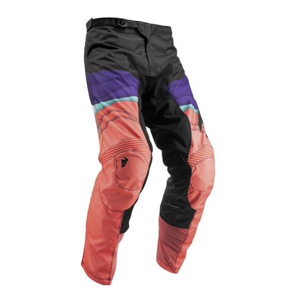 Pantaloni MX-Enduro Thor Pantaloni Pulse Depth Black/Coral S9 Dama
