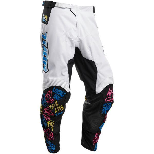 Pantaloni MX-Enduro Thor Pantaloni Pulse Fast Boys S20 White
