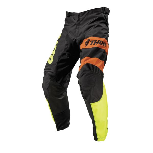 Thor Pantaloni Pulse Savage Big Kat Black/Lime S9 Copii