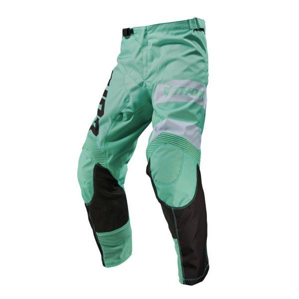 Pantaloni MX-Enduro Thor Pantaloni Pulse Savage Jaws Mint/Black S9
