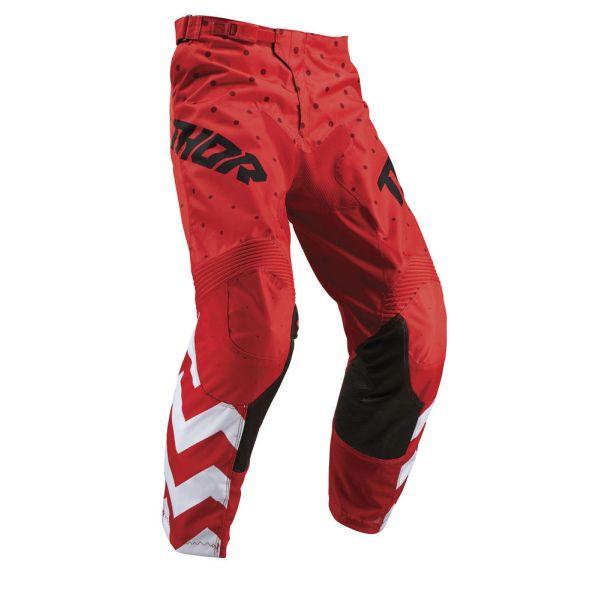 Pantaloni MX-Enduro Thor Pantaloni Pulse Stunner Red/White S9