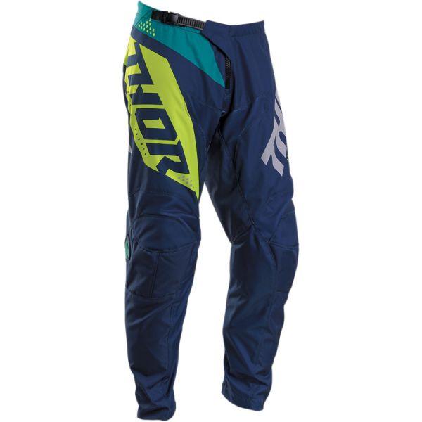 Pantaloni MX-Enduro Thor Pantaloni Sector Blade S20 Navy/Acid
