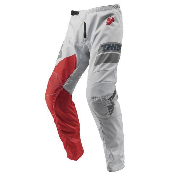 Pantaloni MX-Enduro Copii Thor LICHIDARE STOC Pantaloni Sector Shear Light Gray/Red S9 Copii