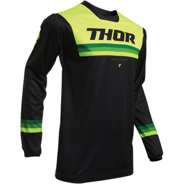 Tricouri MX-Enduro Copii Thor Tricou Copii Pulse Air S20 Black/Acid