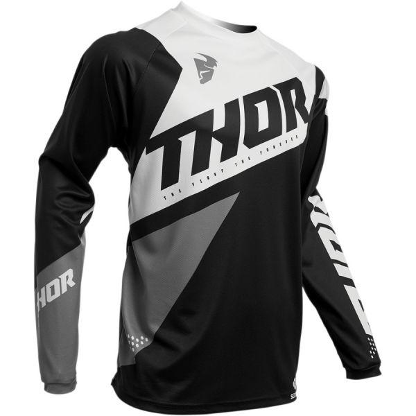 Tricouri MX-Enduro Copii Thor Tricou Copii Pulse Air S20 Black/White