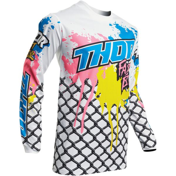 Tricouri MX-Enduro Copii Thor Tricou Copii Pulse Fast Boyz S20 White
