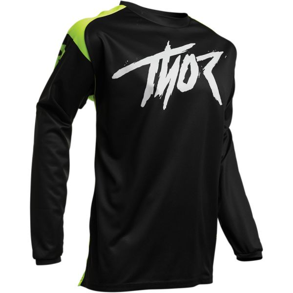 Tricouri MX-Enduro Copii Thor Tricou Copii Sector Link S20 Black/Acid