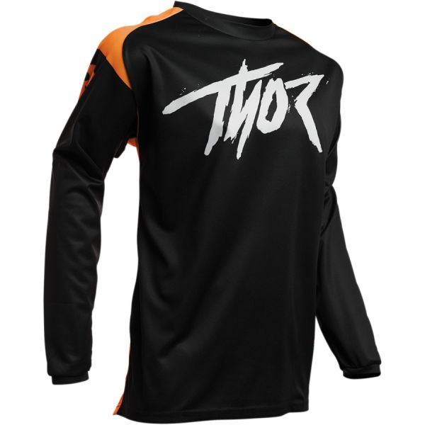 Tricouri MX-Enduro Copii Thor Tricou Copii Sector Link S20 Black/Orange