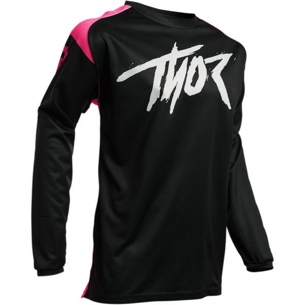 Tricouri MX-Enduro Copii Thor Tricou Copii Sector Link S20 Black/Pink