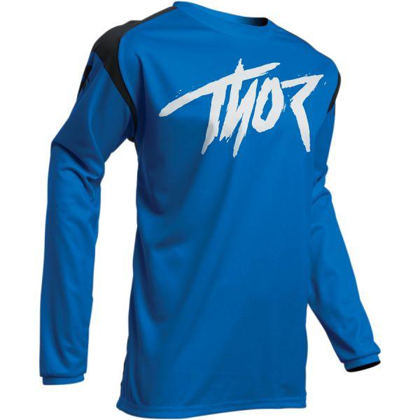 Tricouri MX-Enduro Copii Thor Tricou Copii Sector Link S20 Blue