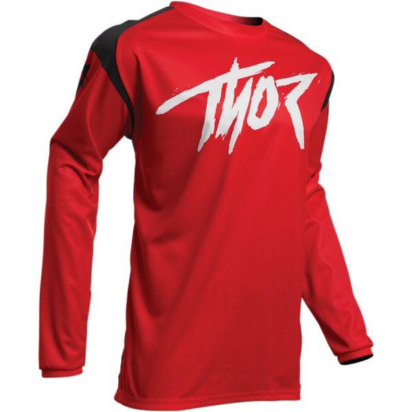 Tricouri MX-Enduro Copii Thor Tricou Copii Sector Link S20 Red/Black