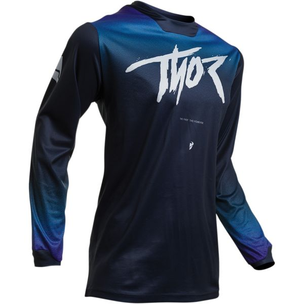 Tricouri MX-Enduro Thor Tricou Dama Pulse Fader S20 Black/Blue