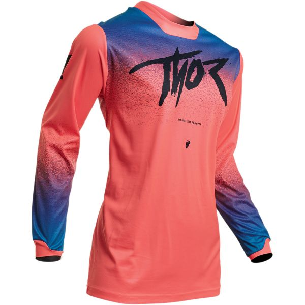 Tricouri MX-Enduro Thor Tricou Dama Pulse Fader S20 Pink/Blue