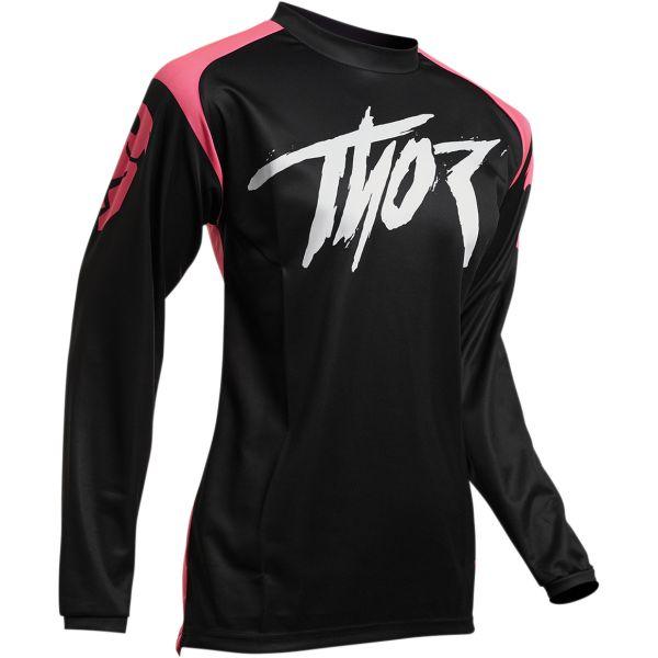 Tricouri MX-Enduro Thor Tricou Dama Sector Link S20 Black/Pink