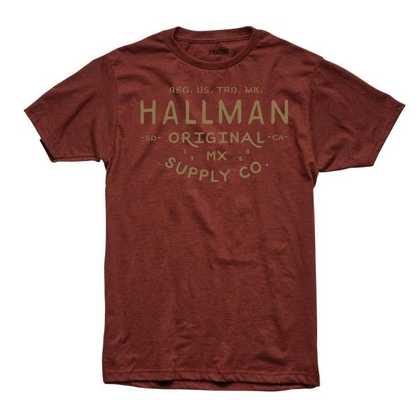 Tricouri Casual Thor Tricou Hallman Supply S9 Brick