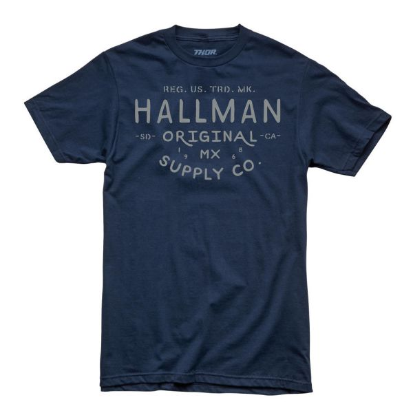 Tricouri casual Thor Tricou Hallman Supply S9 Navy