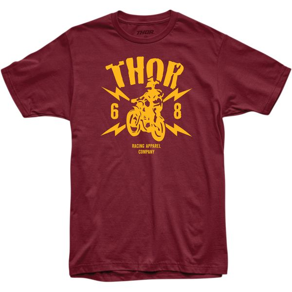 Tricouri Casual Thor Tricou Lightning S20 Dark Red