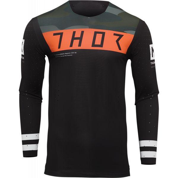 Tricouri MX-Enduro Thor Tricou Moto MX Prime Status Black/Camouflage/Orange 2022