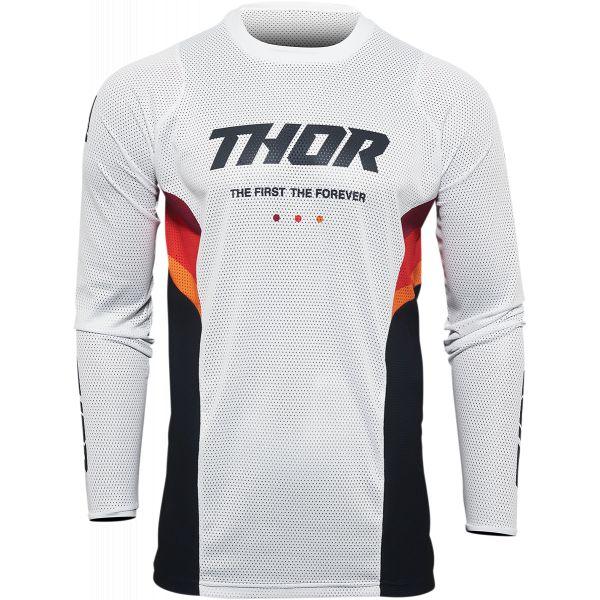 Tricouri MX-Enduro Thor Tricou Moto MX Pulse React Air Midnight Black/White 2022