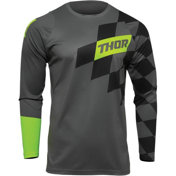 Jerseys MX-Enduro Thor Moto MX Jersey Sector Birdrock Acid/Gray 2022