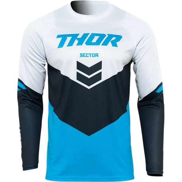 Jerseys MX-Enduro Thor Moto MX Jersey Sector Chev Blue/Midnight Blue 2022