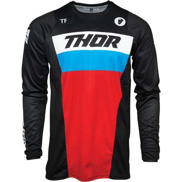 Tricouri MX-Enduro Copii Thor Tricou Mx Copii Pulse Racer Multicolor Rosu 2021