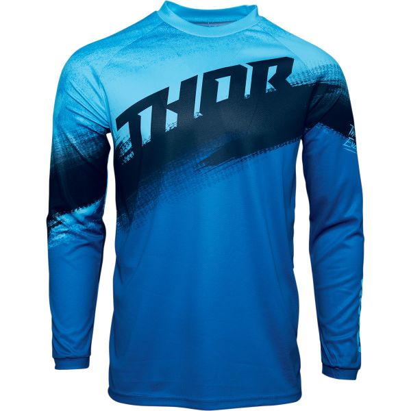 Tricouri MX-Enduro Copii Thor Tricou MX Copii Sector Vapor Albastru 2020