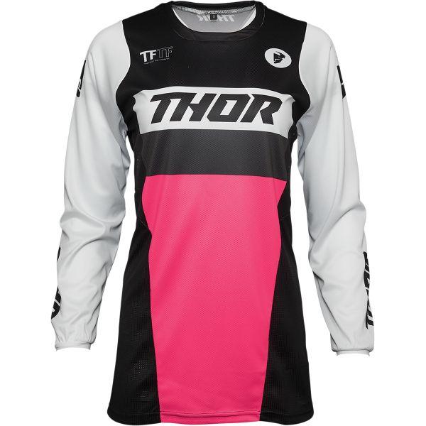 Tricouri MX-Enduro Thor Tricou Mx Dama Pulse Racer Negru Roz 2021