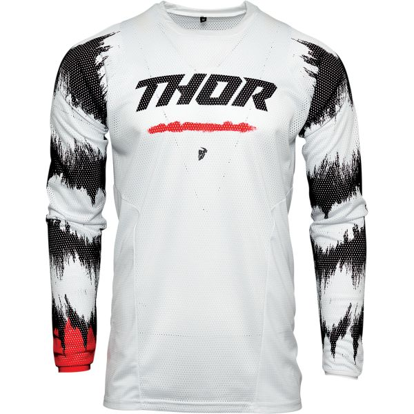 Tricouri MX-Enduro Thor Tricou Mx Pulse Air Radiate Rosu Alb 2021