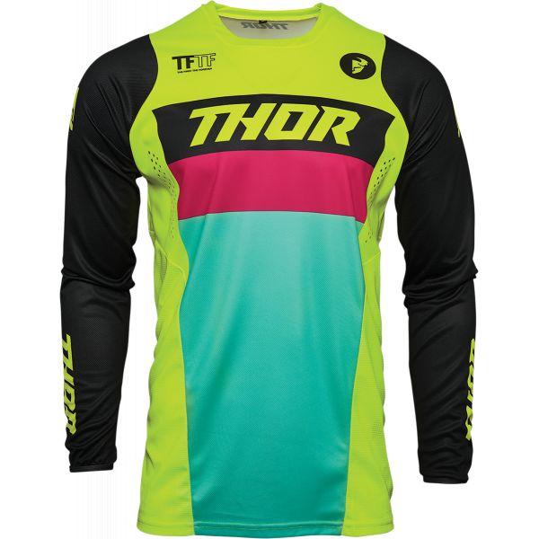 Tricouri MX-Enduro Thor Tricou Mx Pulse Racer Multicolor Galben 2021