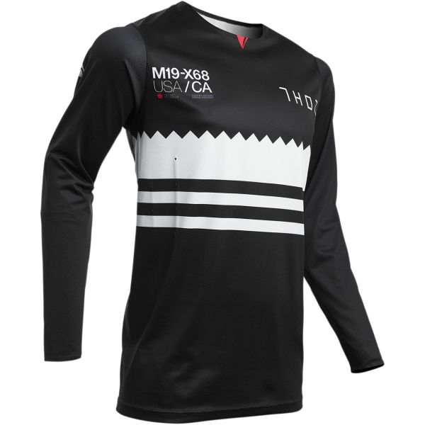 Tricouri MX-Enduro Thor Tricou Prime Pro Baddy S20 Black/White