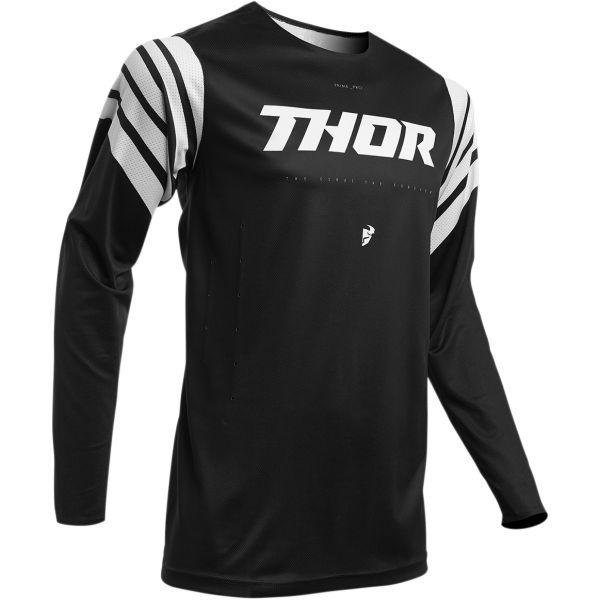 Tricouri MX-Enduro Thor Tricou Prime Pro Strut S20 Black/White