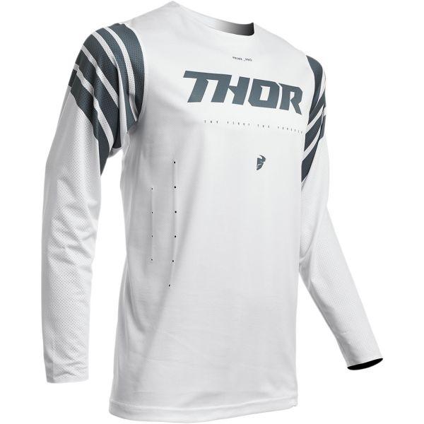 Tricouri MX-Enduro Thor Tricou Prime Pro Strut S20 White/Silver