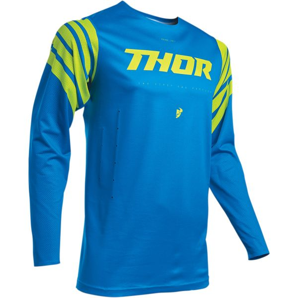 Tricouri MX-Enduro Thor Tricou Pro Foresta S20 Blue/Acid