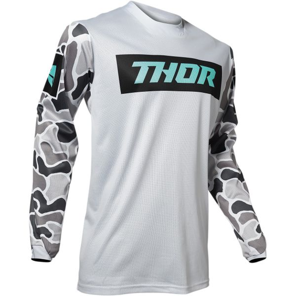 Tricouri MX-Enduro Thor Tricou Pulse Air Gray/Black 2020