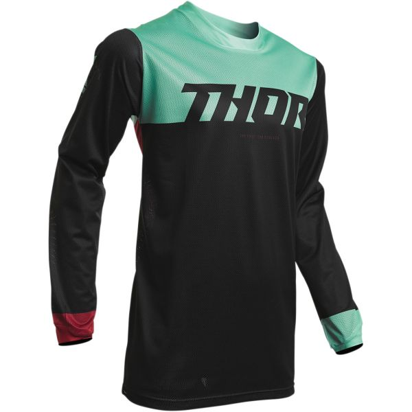 Tricouri MX-Enduro Thor Tricou Pulse Air Profile S20 Black/Mint