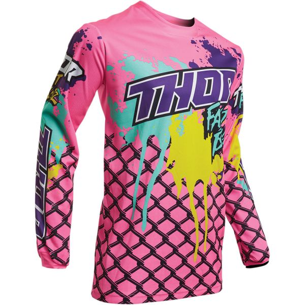 Tricouri MX-Enduro Thor Tricou Pulse Fastboyz S20 Multicolor Pink