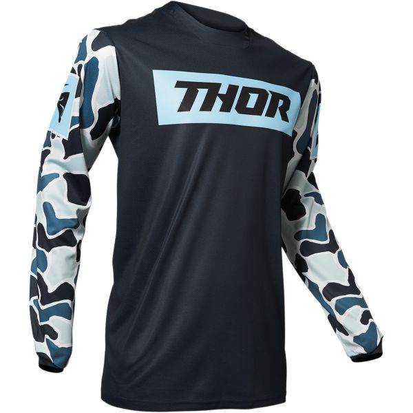 Tricouri MX-Enduro Thor Tricou Pulse Fire Midnight/Blue 2020