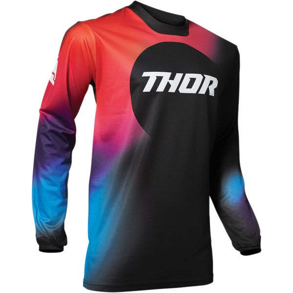 Tricouri MX-Enduro Thor Tricou Pulse Glow Black 2020