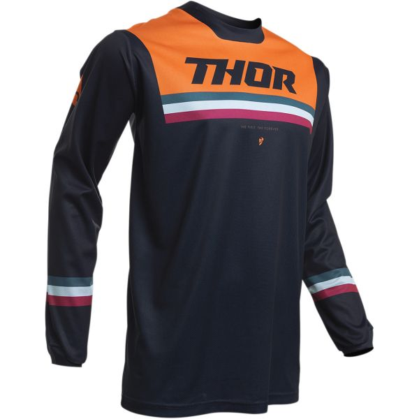 Tricouri MX-Enduro Thor Tricou Pulse Pinner S20 Midnight/Orange