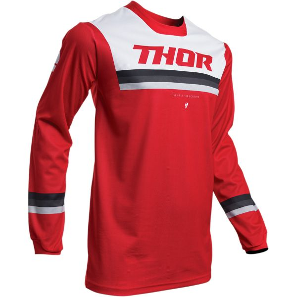 Tricouri MX-Enduro Thor Tricou Pulse Pinner S20 Red