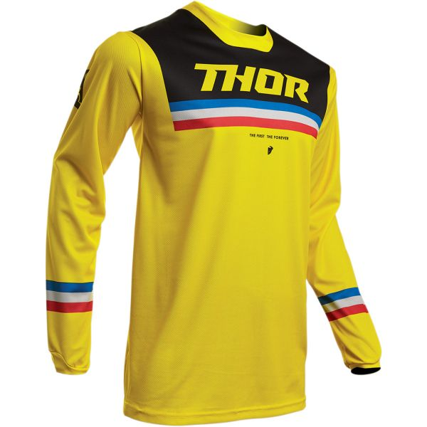 Tricouri MX-Enduro Thor Tricou Pulse Pinner S20 Yellow/Black