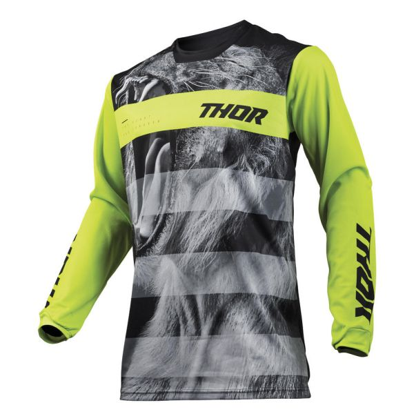 Thor Tricou Pulse Savage Big Kat Black/Lime S9 Copii