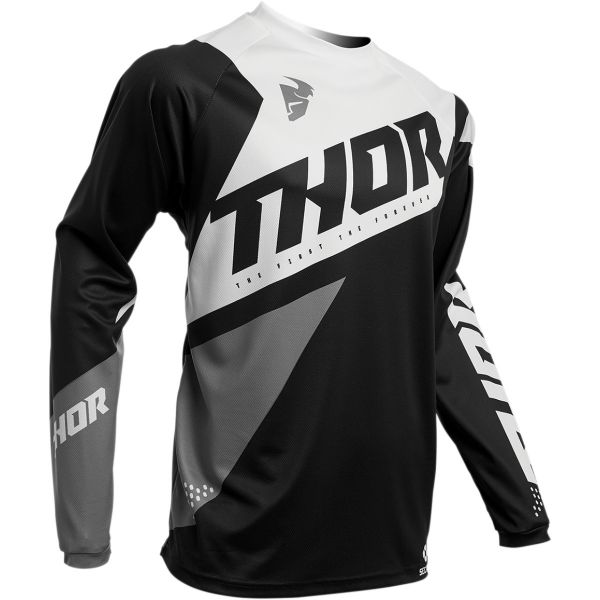 Tricouri MX-Enduro Thor Tricou Sector Blade S20 Black/White