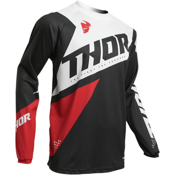 Tricouri MX-Enduro Thor Tricou Sector Blade S20 Charcoal/Red