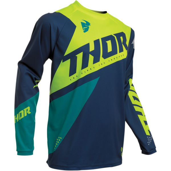 Tricouri MX-Enduro Thor Tricou Sector Blade S20 Navy/Acid